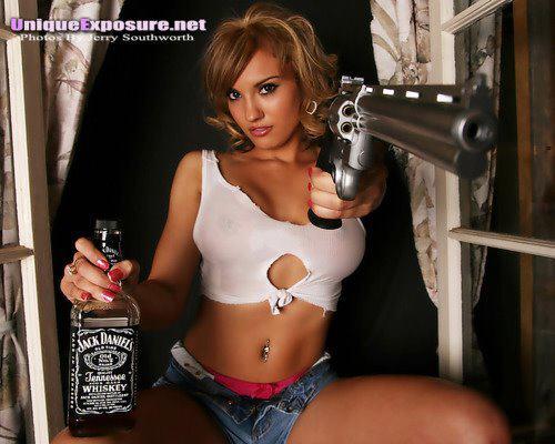 fata si pistolul